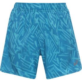 """asics Woven 5,5"""" Short Women mosaic blue palm"""